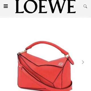 Loewe經典款 紅色only