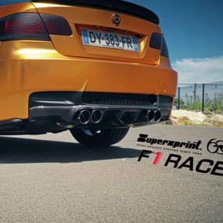E92 m3 Supersprint f1 race exhaust system