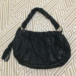 Small black bag with tassel