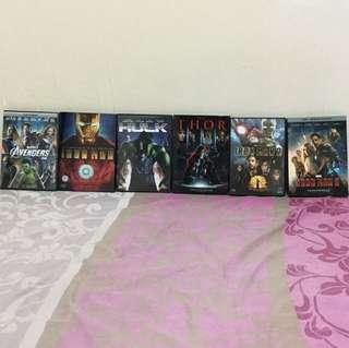 Marvel Cinematic Universe DVDs