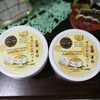 Habu Habu Tofu Whitening Sleeping Pack