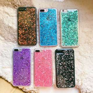 Colorful flakes case for iphone