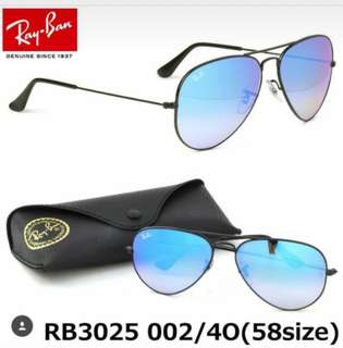 discount ray Ban aviator flash lenses rb3025 58mm size