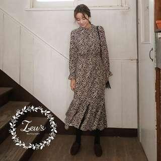 【ZEU'S】韓國冬季新款小氣質秀氣洋裝『 12017844 』【現+預】L