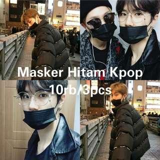 Masker Mulut Hitam Korea
