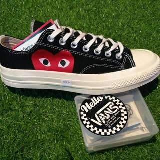 Converse Play /CDG Black White 37 Sd 44