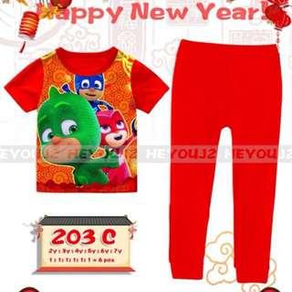 PJ Masks Pyjamas 2-7yrs Old