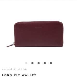 RABEANCO女用咖啡皮夾LONG ZIP WALLET