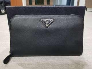Prada Saffiano Oro Mens Wallet