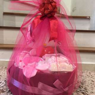 Diaper cake for new born baby