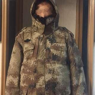 男裝外套保暖(毛毛領)
