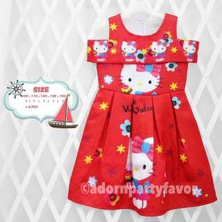 Hello Kitty Off-Shoulder Dress