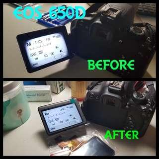 DSLR LCD repair