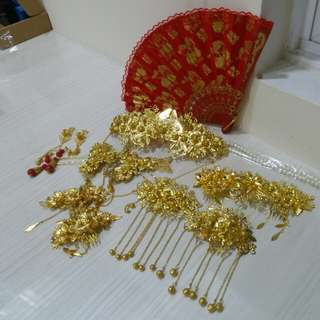 Chinese wedding hair accesories