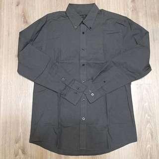 🚚 [HANG TEN]男生 長袖襯衫 深灰色 M 便宜賣