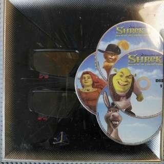 Samsung - 3D starter set (with 2 x 3D active glasses & 3D blue ray disc (Shrek))