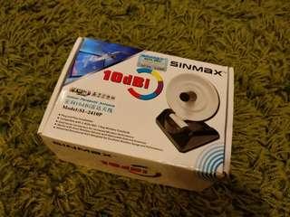 Sinmax 10dBi high gain parabolic antenna 2.4ghz WiFi New in box