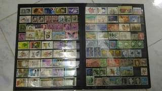 外國郵票一本