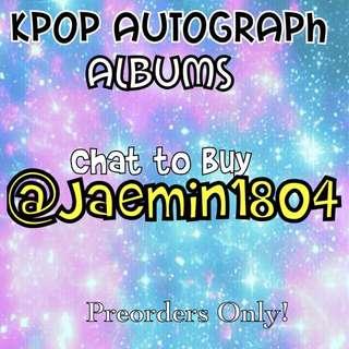 Kpop Autographed Albums