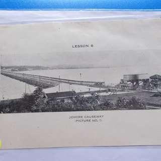 vintage PHOTO PRINT of  SINGAPORE JOHORE CAUSEWAY MALAYA - ad16