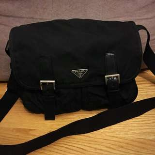 Prada Men Unisex Travel Shoulder Bag Backpack Travelling Chain 背包 側揹袋 斜咩袋