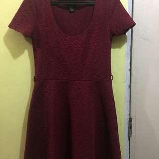Forever 21 Red Mini Dress