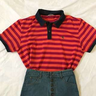 Orange Stripe Polo