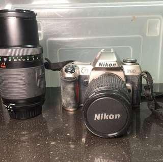 Nikon film camera slr F80