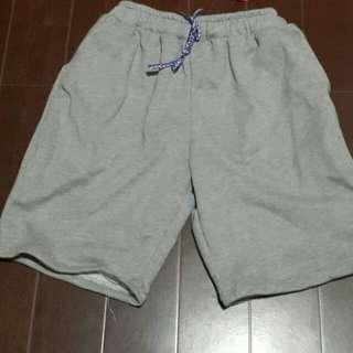 Light gray sweat shorts