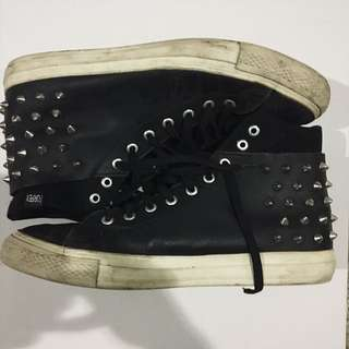 Forfex Killer Volume  Black 9 Studded Sneakers