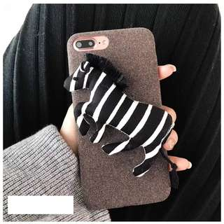 3D Zebra Iphone 6/6s/6+/7/7+/8/8+/X Mobile Casing