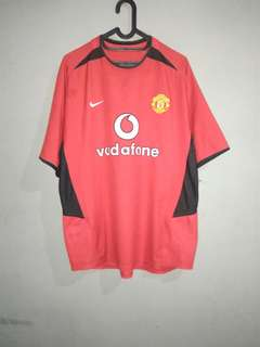 JERSEY MANCHESTER UNITED 2003 2004 SIZE L