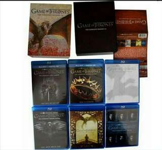 Game Of Thrones Season 1 To 6 Complete 27 Discs Bluray boxset