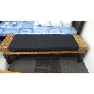 Bench with fabric cushion