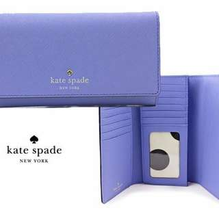 Kate Spade紫色長銀包Purple Wallet$400