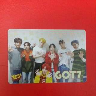《Yes》27th yescard - Got7 夜光 #2702(L)