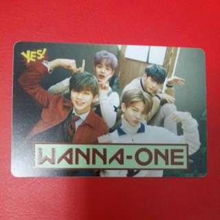 《Yes》27th yescard - Wanna One 夜光 #2706(L)