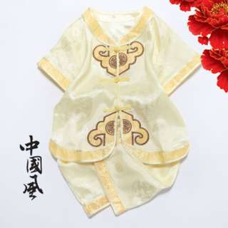 ★READY STOCK★  Gold Yellow Chinese New Year Traditional Kids Boy Set
