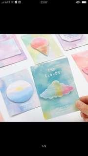 彩色雲朵便利貼特價