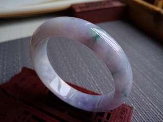 0247圈口57.0*13.6*7.6mm特價不議不退,冰糯種紫羅蘭飄花寬邊手鐲。存在棉線沒有刮感