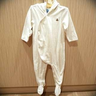 日本專櫃babyGap包腳熊熊連身裝 12-18M 80cm