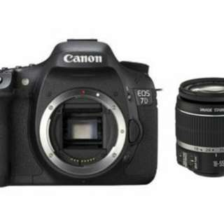 Canon 7D mk 1 for rental