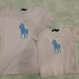 Polo tshirt mommy and daughter