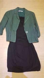 Jessica Blazer and  Calvin Klein Black Dress