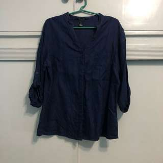 Chinese Collar Button Down