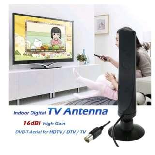 w16YG Indoor Digital TV Antenna 16dBi High Gain Full HD 1080p VHF / UHF DVB-T-Aerial IEC Connector for DTV / TV - intl