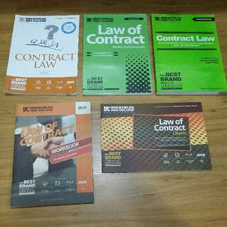 A-Levels A2 Law of Contract book set