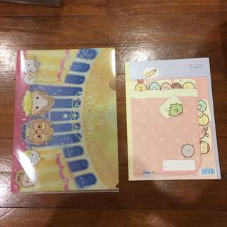 BEAUTY AND THE BEAST UFUFUY A4 file and sumikko gurashi notebook with blank pages