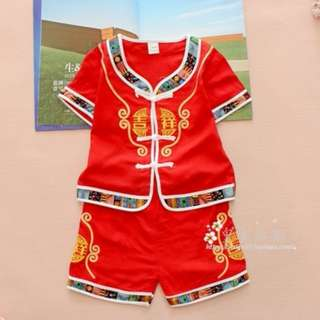 ★READY STOCK★ Red 吉祥 Chinese New Year Traditional Kids Boy Set
