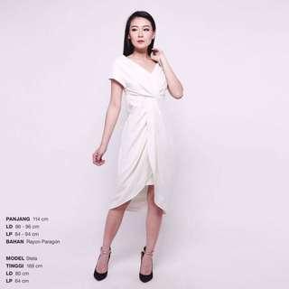 Squishy Dress Party Pesta White